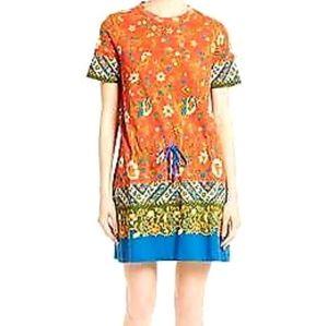 Tory Burch Samba Batik Print SS Dress SizeM
